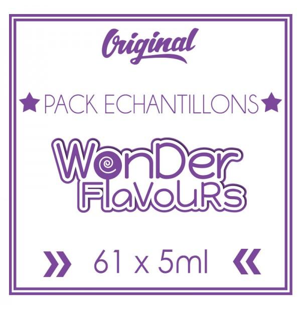 Pack découverte Wonder Flavours 60 saveurs (5ml)