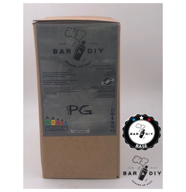"BiB ""Bag in Box"" 3 Litres en Full PG par BAR A DIY"