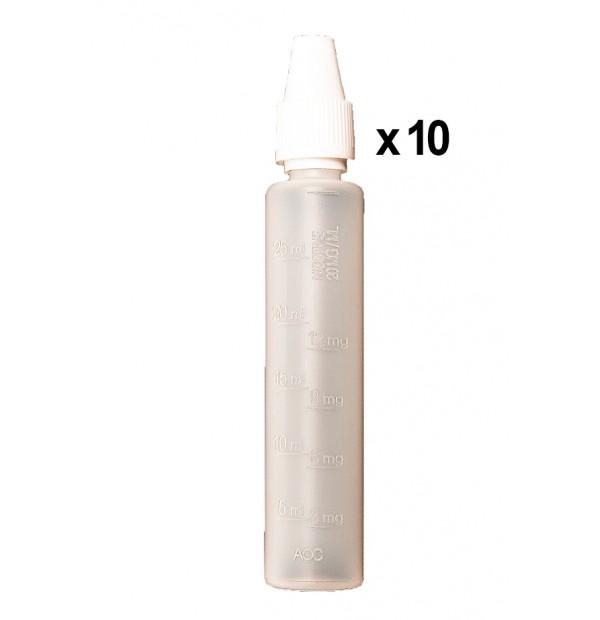 Bouteilles mixer graduées 30ml (x10)