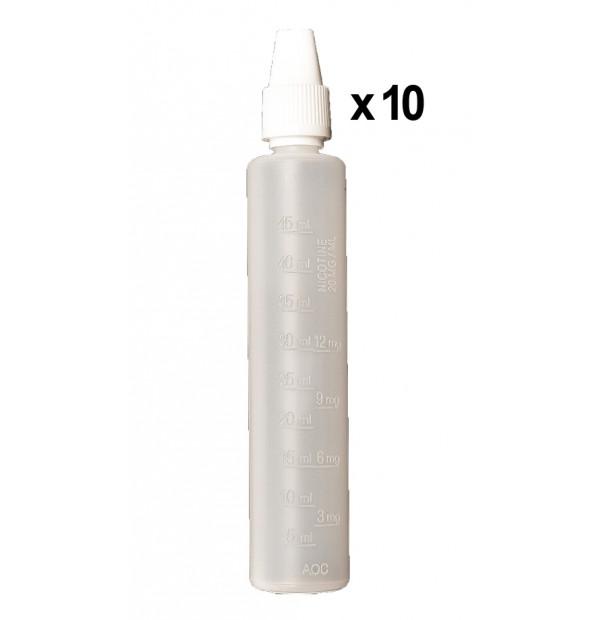 Bouteilles mixer graduées 50ml (x10)
